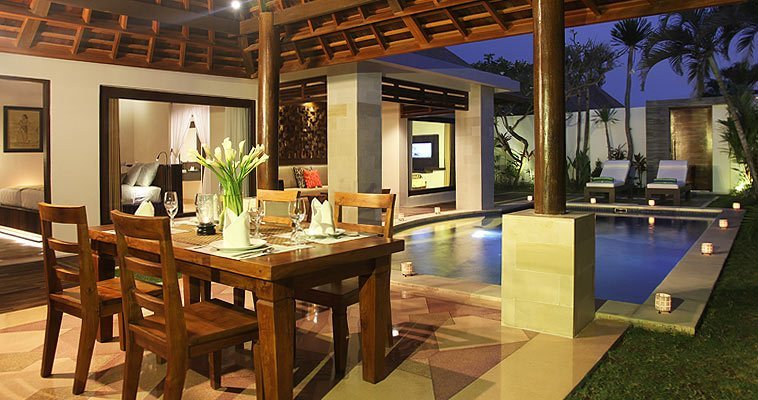 Natural design blended with contemporary style accents of Bali in the perfect holiday destination